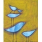 Sky Birds on Mustard Yellow